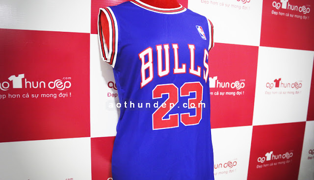 Áo đồng phục bóng rổ trắng xanh