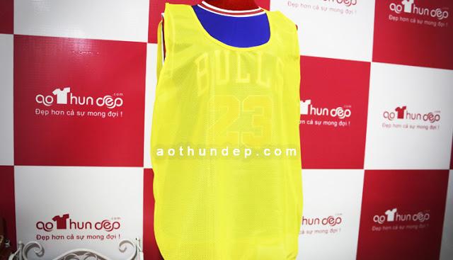 Áo Lưới Đồng Phục màu vàng